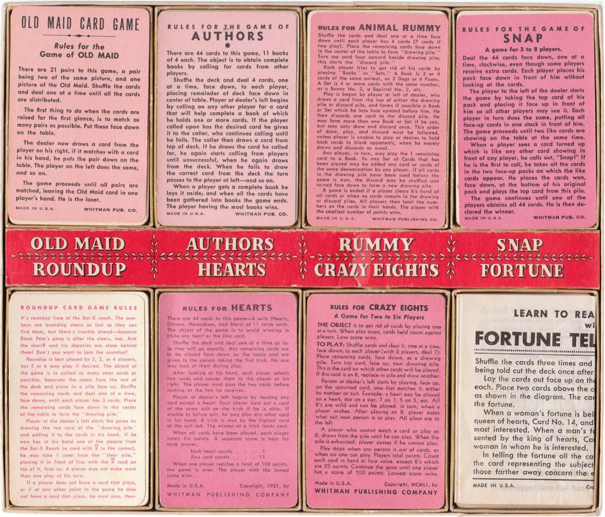Whitman 8 Game Box, 1951