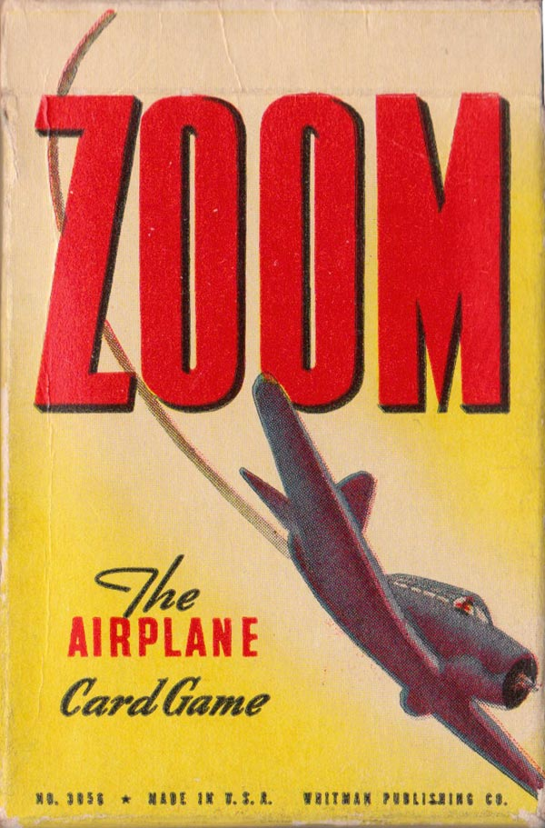 """Zoom"" Airplane card game published by Whitman Publishing Co., Racine, USA, 1941"