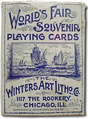World's Fair Souvenir playing cards, 1892