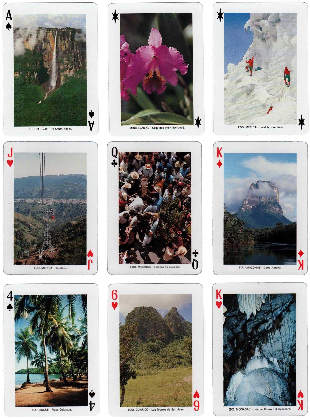 Venezuela Souvenir playing cards by Heraclio Fournier, c.1980s