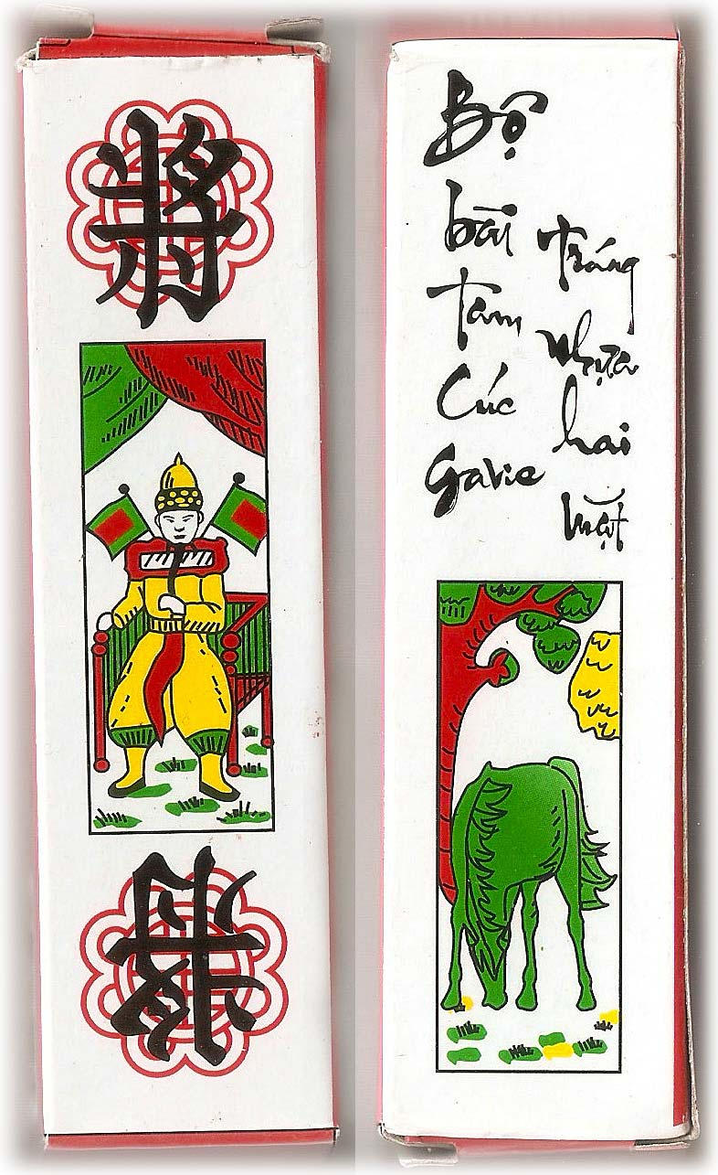 Tam cúc playing cards from Vietnam, 2016