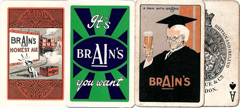 Brain's Beer advertising playing cards