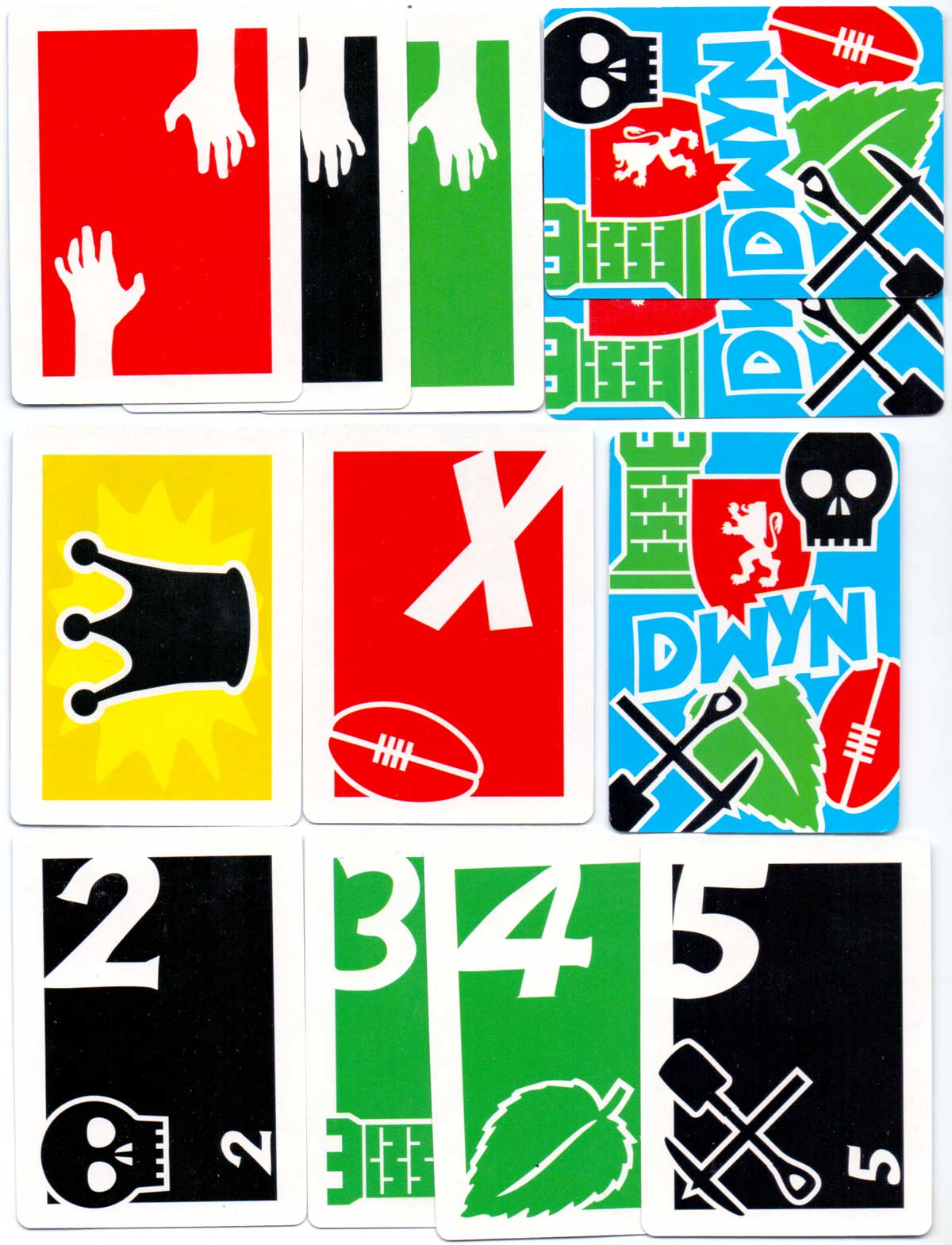 Dwyn - a card game about Welsh history designed by Simon Grennan and Christopher Sperandio, 2006