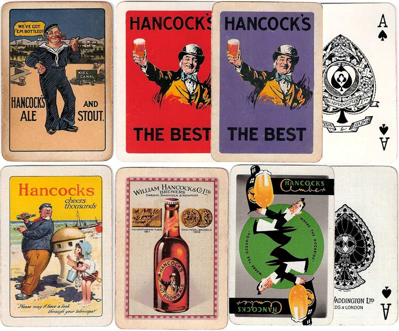 Hancock's Brewery advertising playing cards