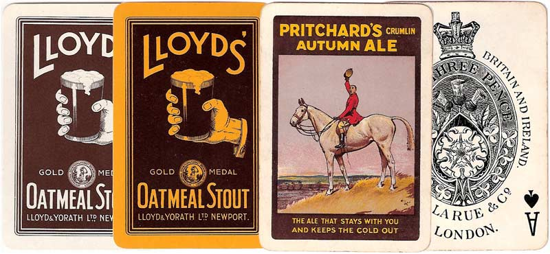 Lloyd's and Pritchard's Breweries advertising playing cards