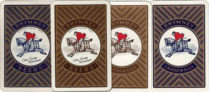 Rhymney Beer advertising playing cards