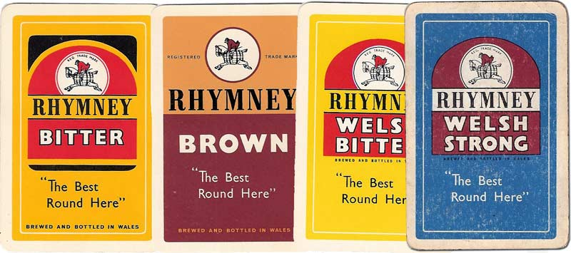 Rhymney Welsh Beer advertising playing cards