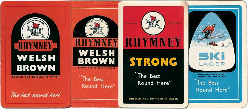 Rhymney Welsh Beer and Lager advertising playing cards