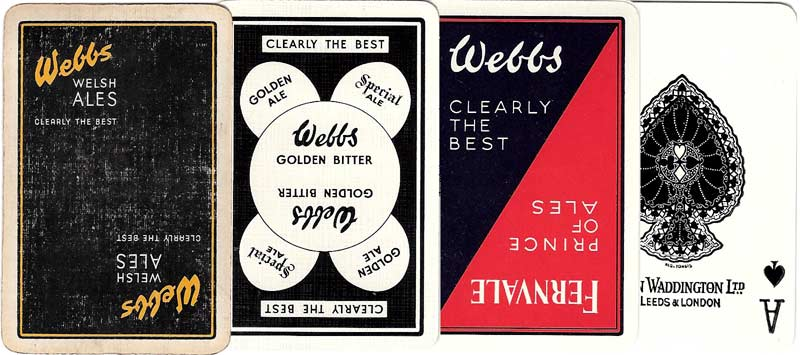 Webb's Ales advertising playing cards