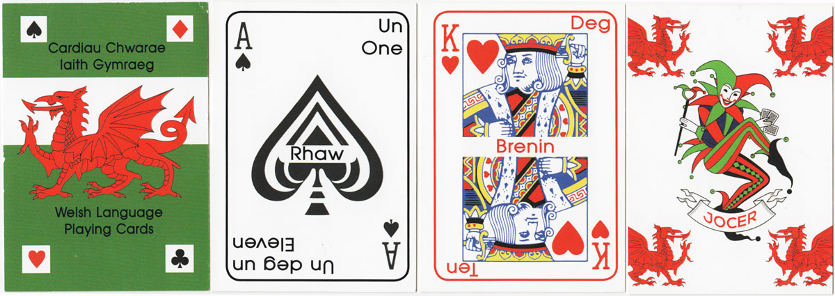 Welsh Language playing cards designed by Richard Ruston-Burgess
