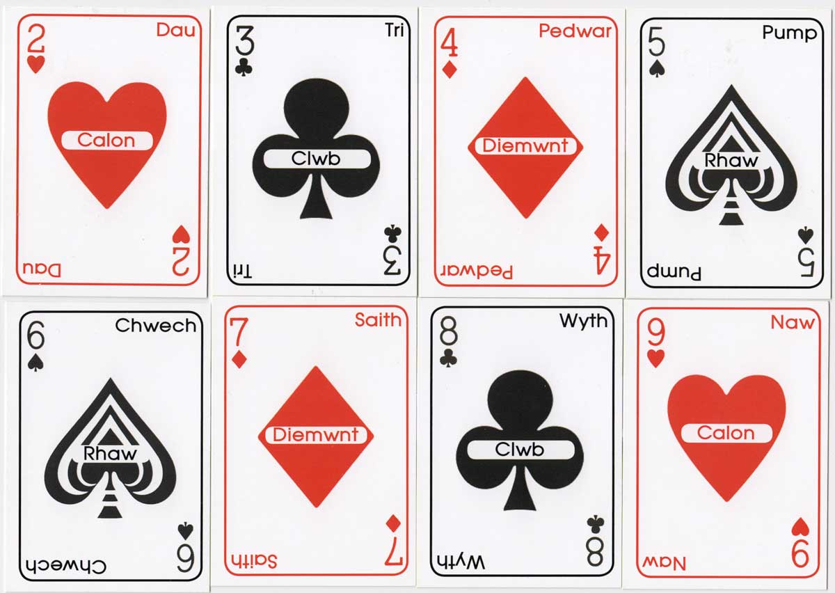 Welsh Language Playing Cards made in Wales, 2020