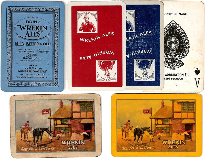 Wrekin Ales advertising playing cards
