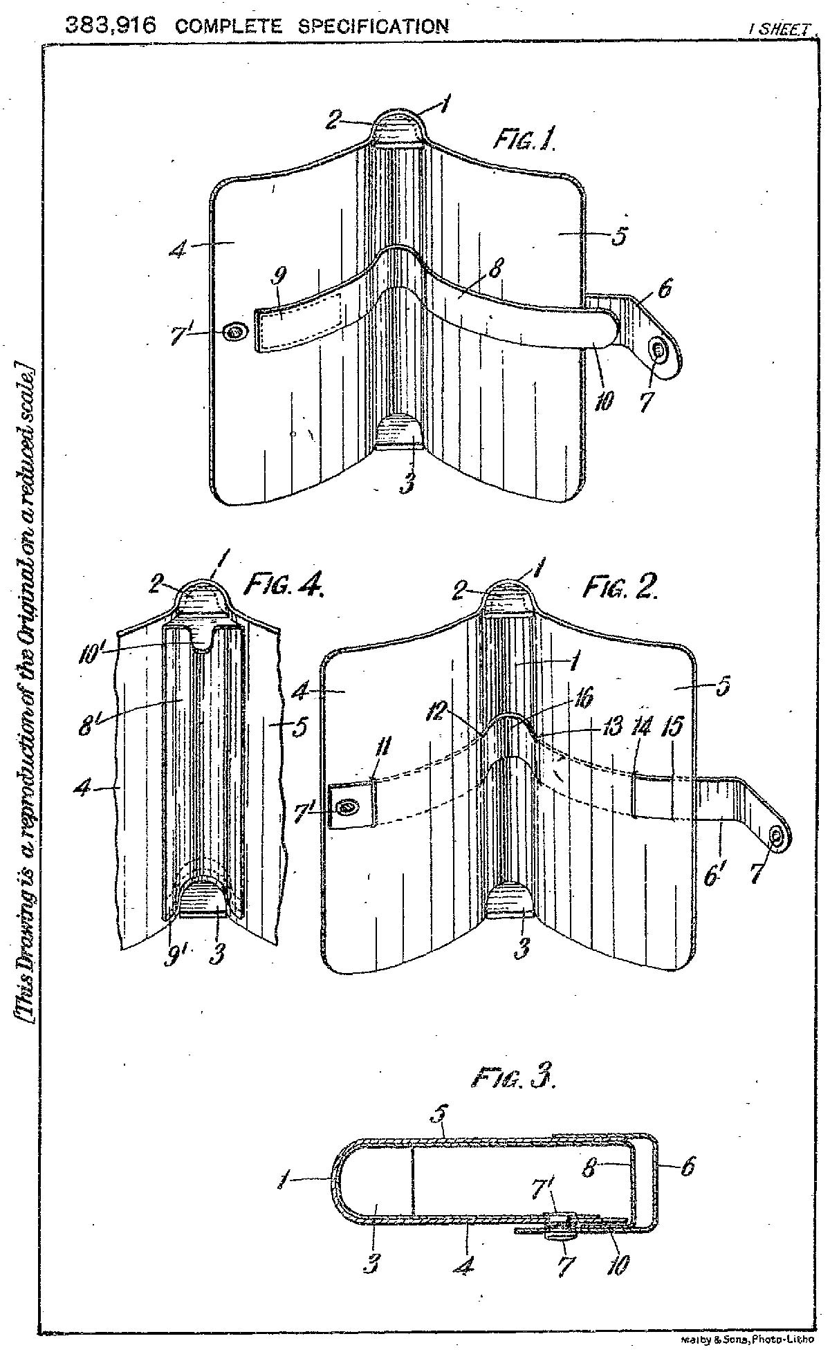 1932 Patent for leather card case in form of a book