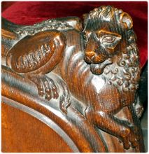 lion carving from late XIV century choir stall