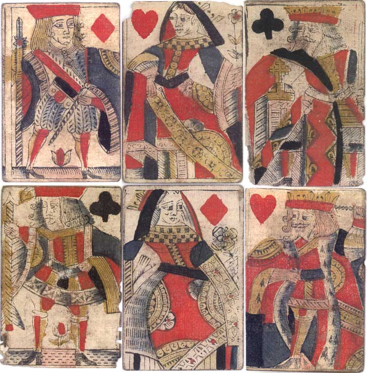 Early English Playing Cards c.1725, found under floorboards