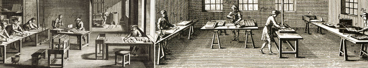 18th century playing-card manufacturing workshops