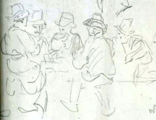 detail from Sketch by JMW Turner
