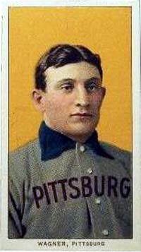 Honus Wagner baseball card issued by the American Tobacco Company, 1909