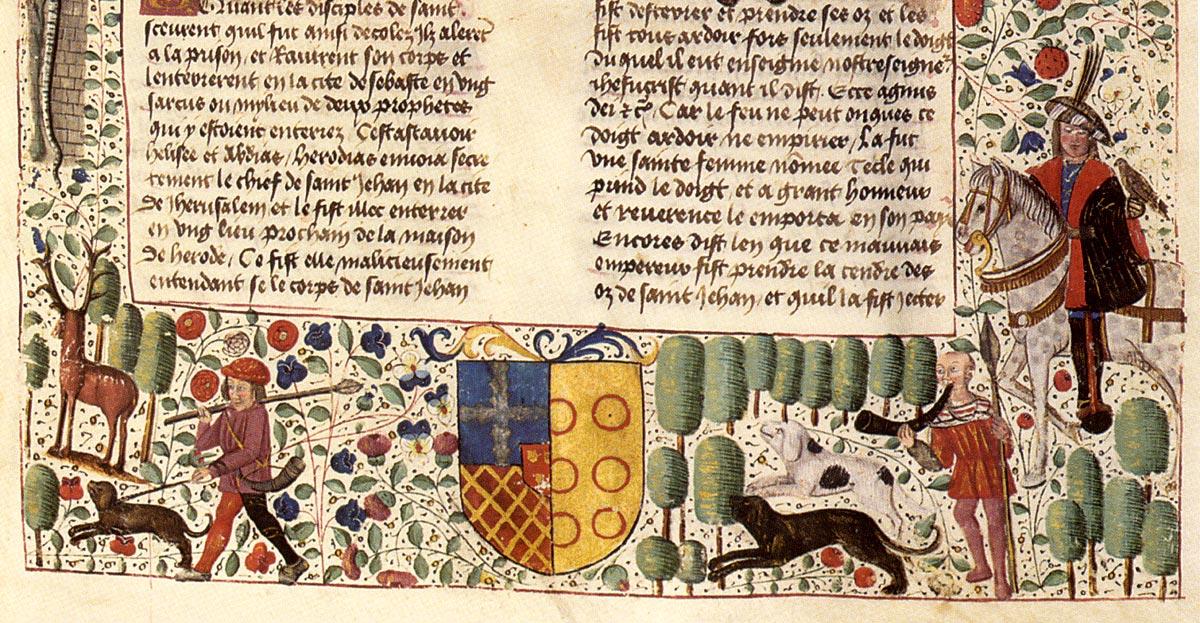 XV century manuscript border