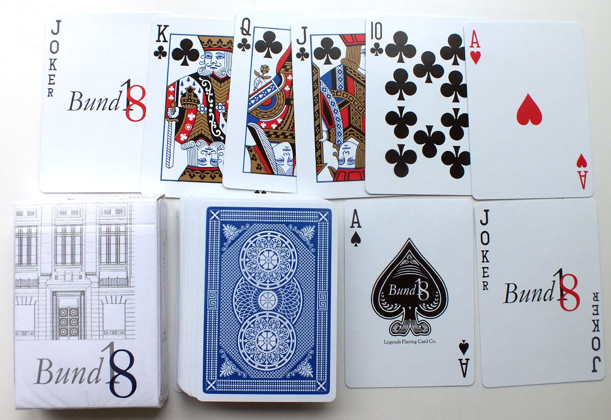 Bund18 Playing Cards produced by Legends Playing Card Co, 2014