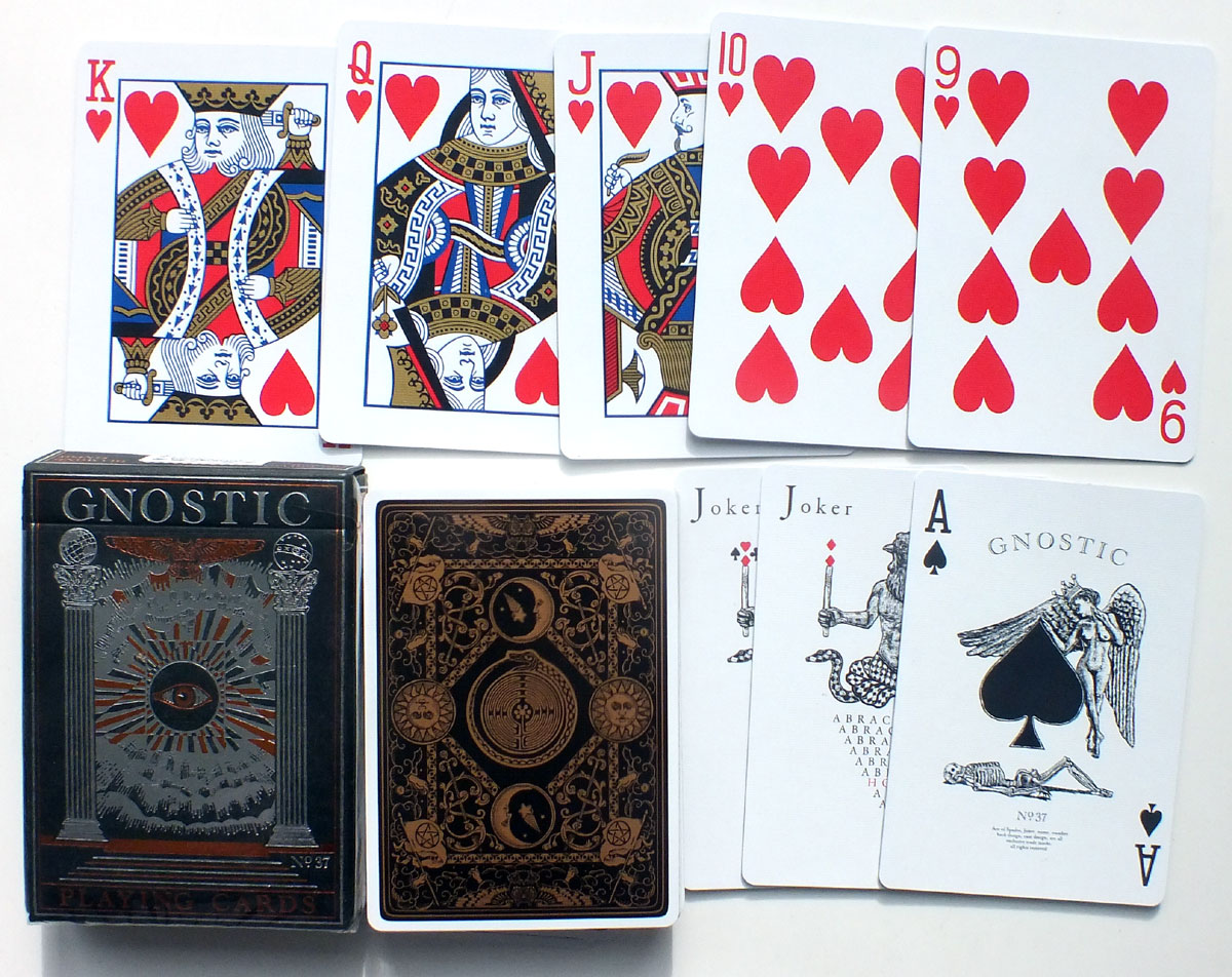 Gnostic Playing Cards produced by Legends Playing Card Co, 2014