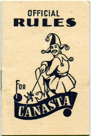 Official Rules booklet for Canasta arranged by Albert H. Morehead, printed by Alf Cooke Ltd, Leeds & London