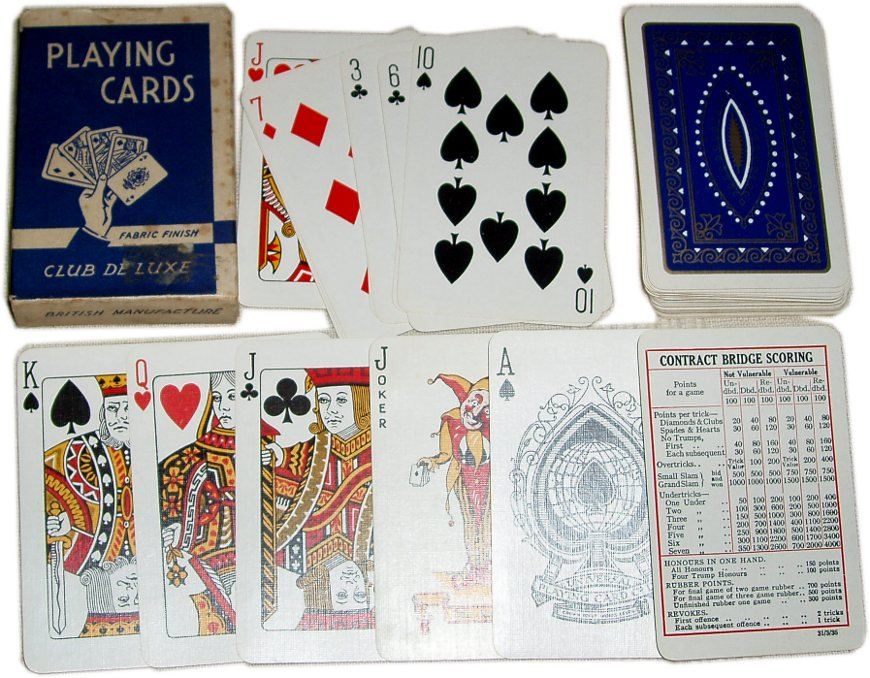 Club De Luxe Playing cards, c.1935-40