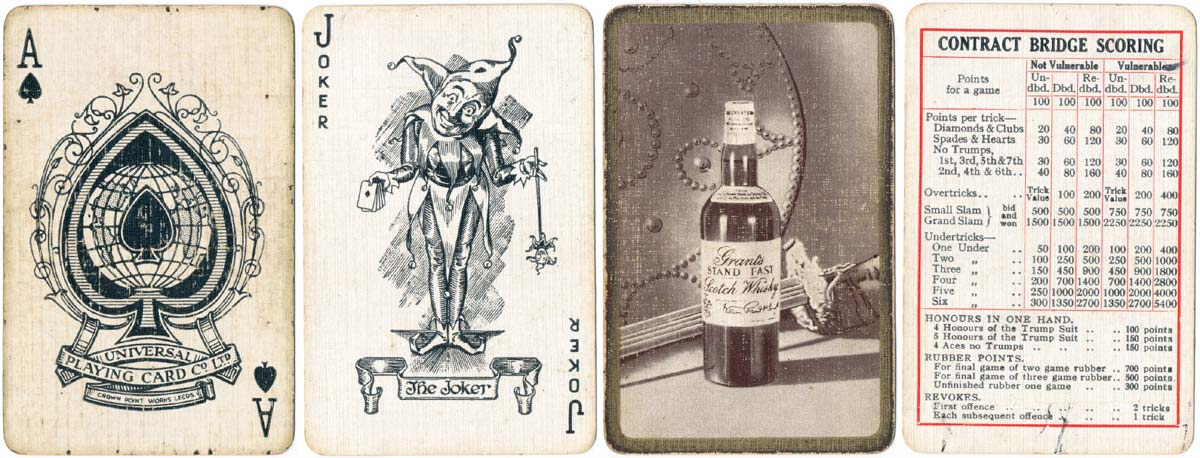 Advertising Deck for Grant's Whisky by Universal Playing Card Co. Ltd, 1932-1934