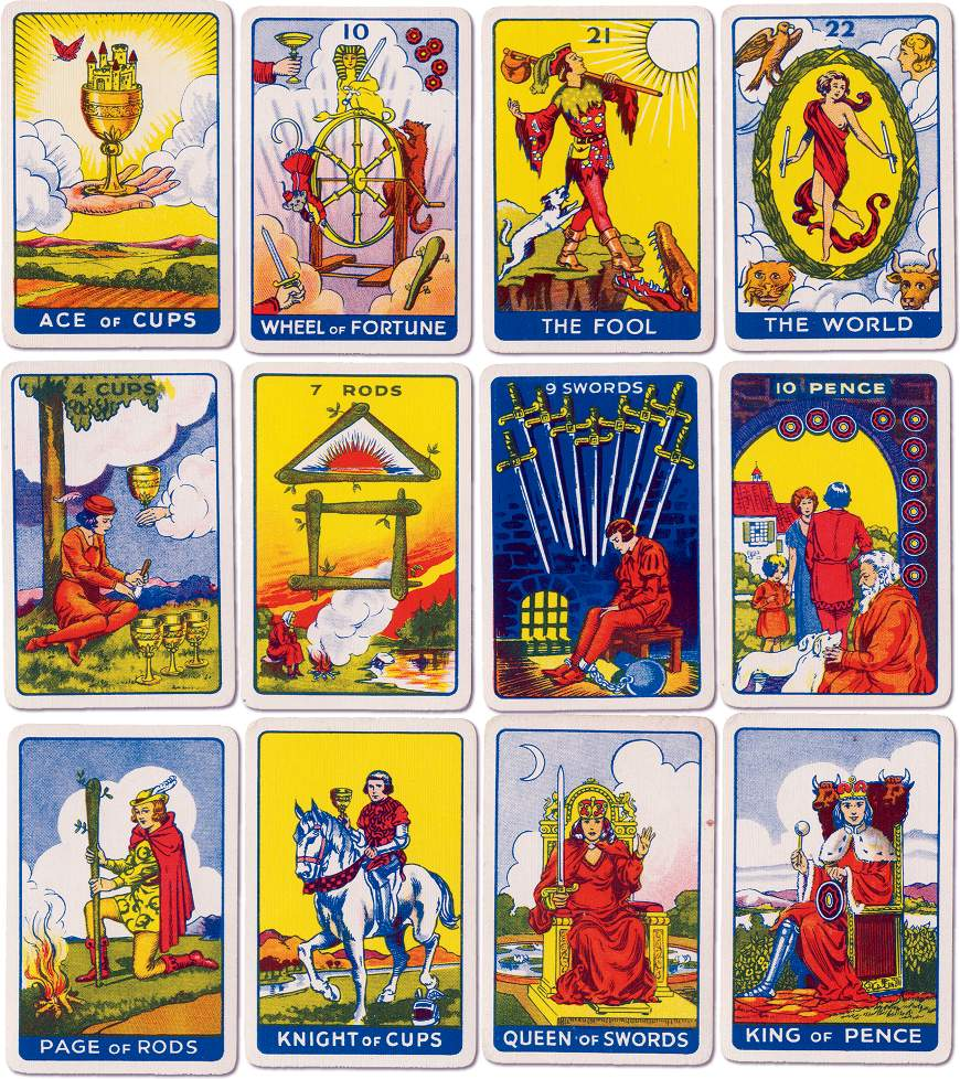 Thomson-Leng Publications Tarot printed by Universal Playing Card Co Ltd, 1935