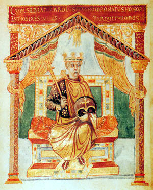 Charles the Bald from Charles psalter at St. Denis c.850-869
