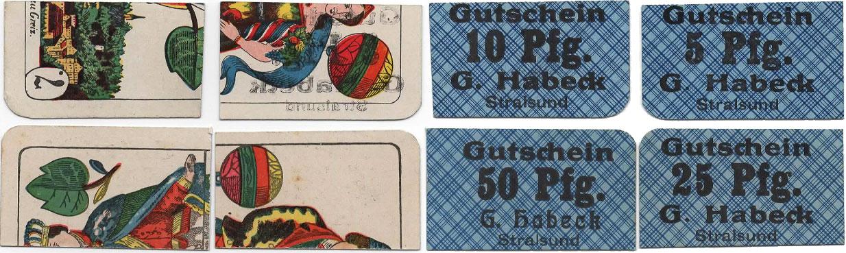 Stralsund spielkarten notgeld