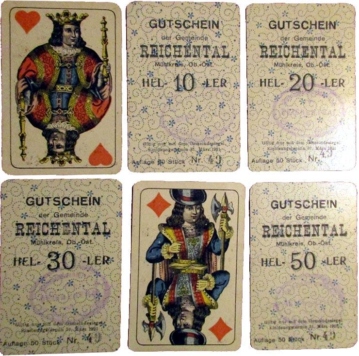 Reichental spielkarten notgeld