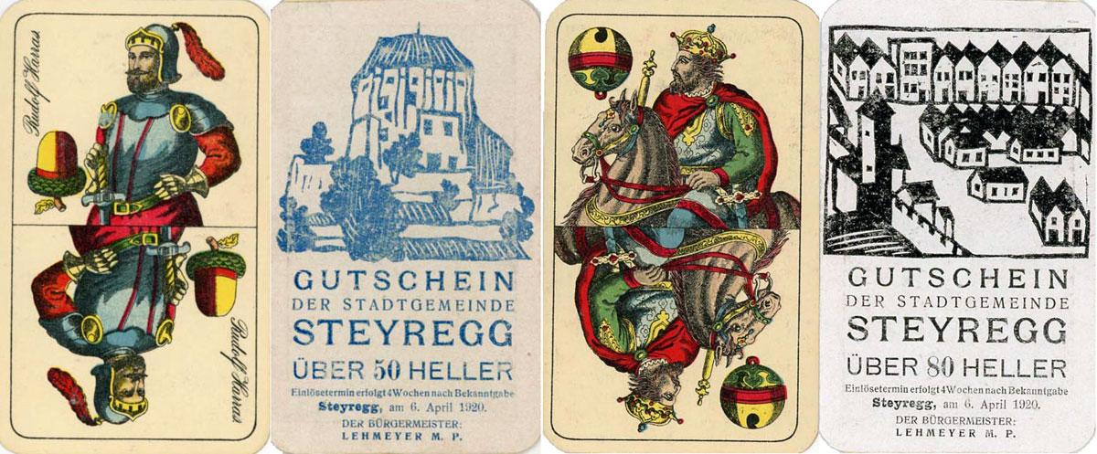 Steyregg spielkarten notgeld