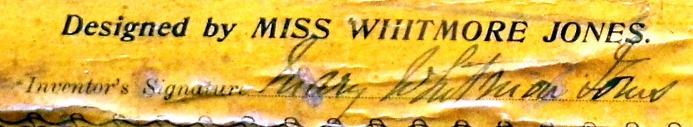 Mary Whitmore Jones's signature