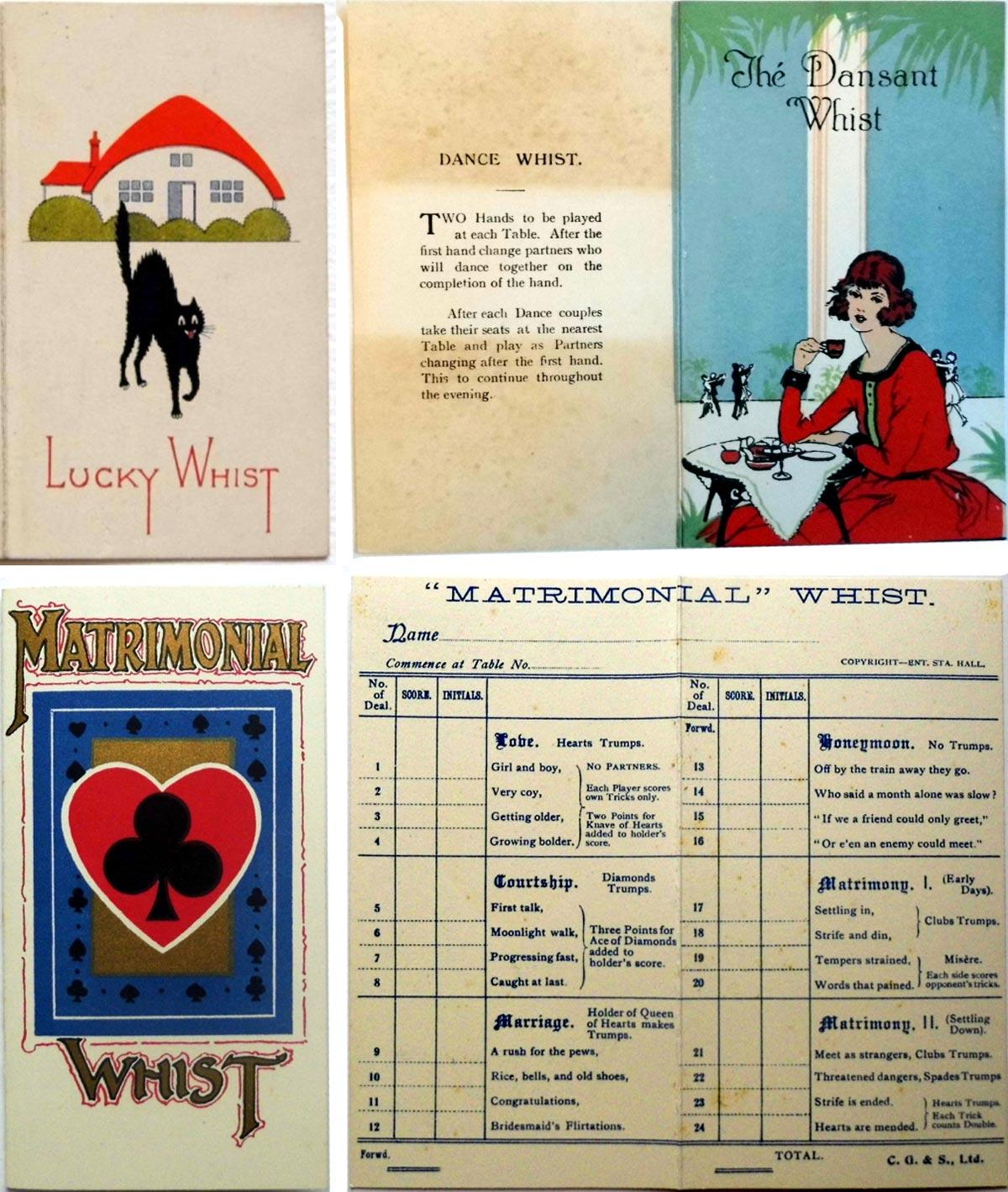 Progressive Whist score cards