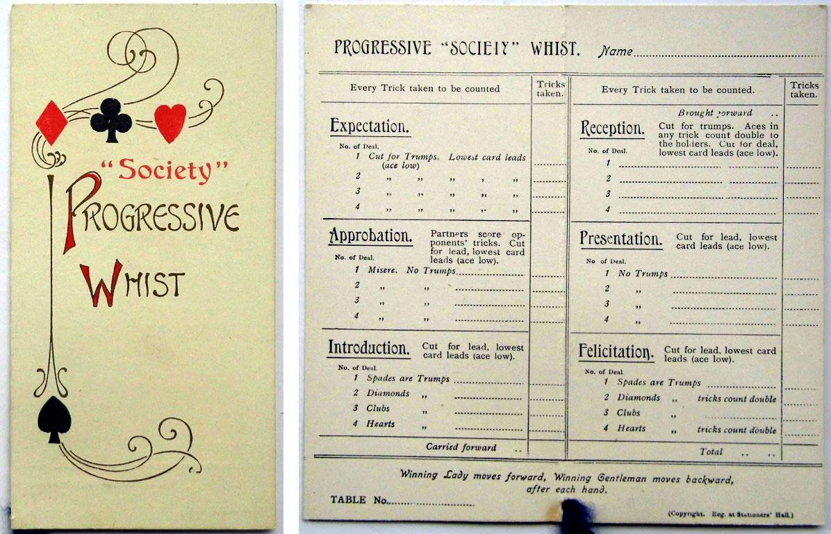 Society Progressive Whist