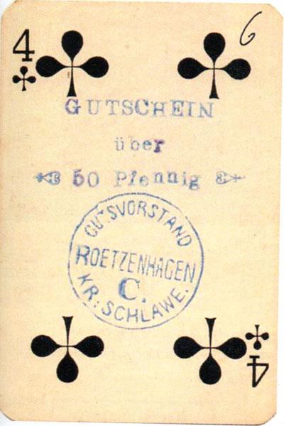 Roetzenhagen spielkarten notgeld