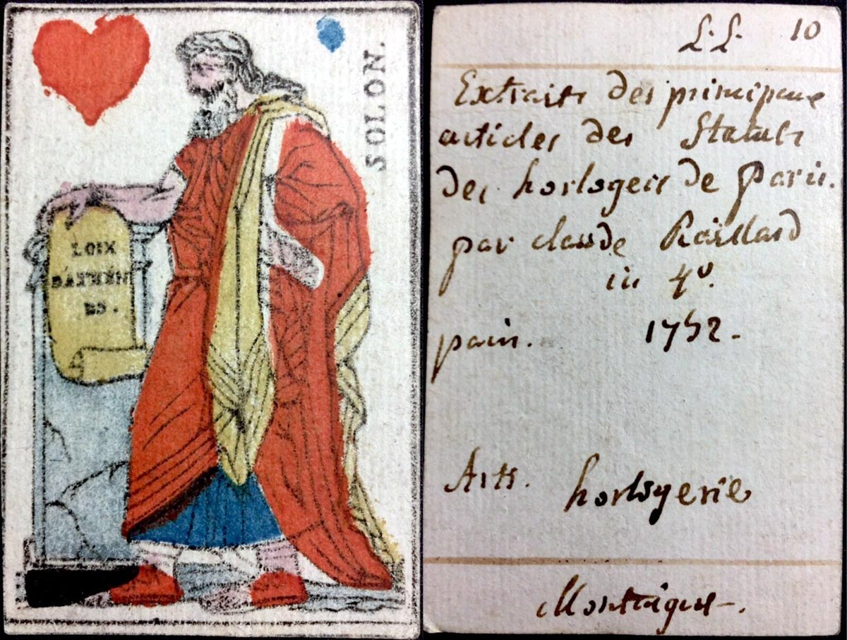 Secondary Use of Playing Cards, 1792