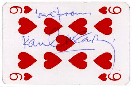 secondary use of playing cards for autograph collecting