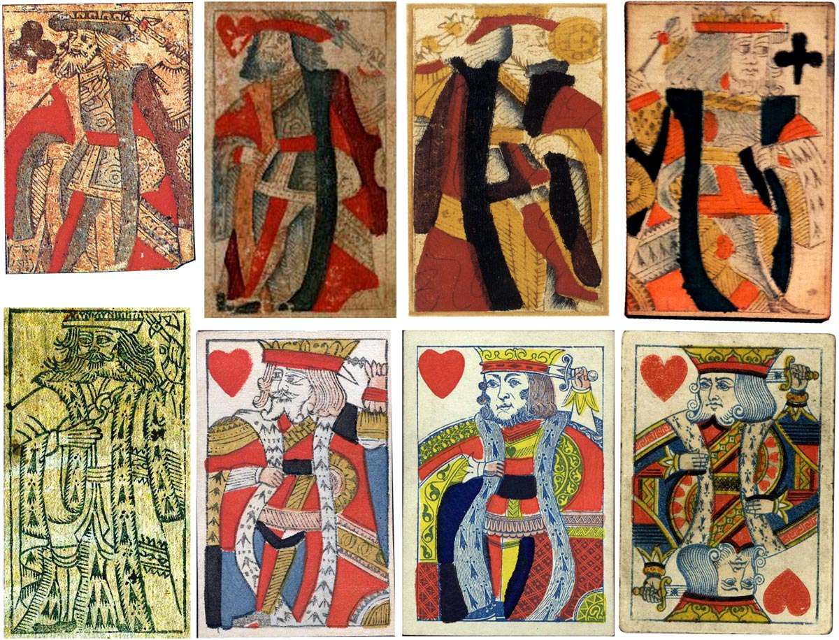 The 'Suicide' King of Hearts derives from a medieval design showing a King wielding a battle axe