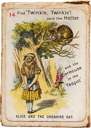 Alice in Wonderland card game, c.1900