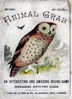 Animal Grab card game, c.1895