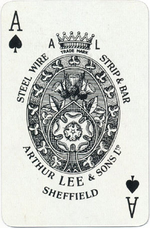 Special Ace of Spades for Arthur Lee & Sons of Sheffield, late 1950s