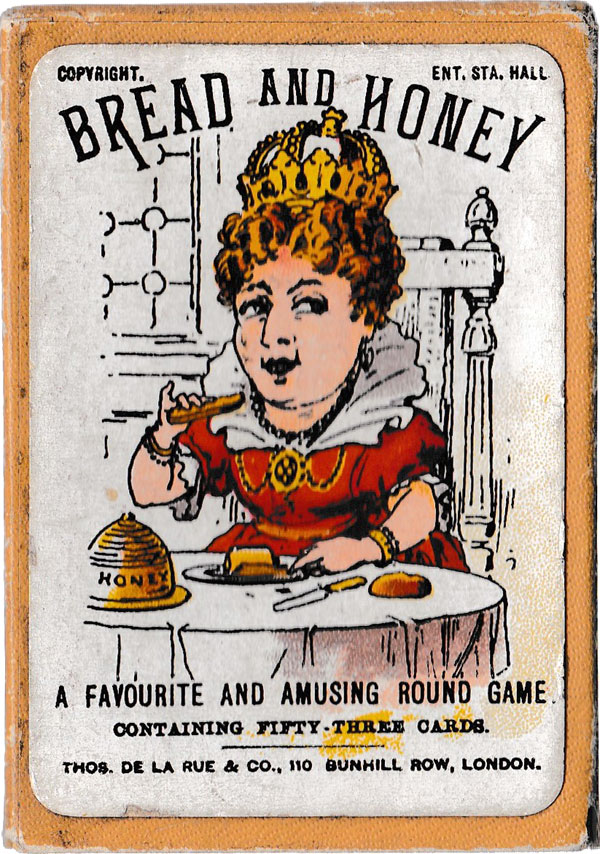 "Box from ""Bread & Honey"" family card game manufactured by Thos De la Rue, c.1900"