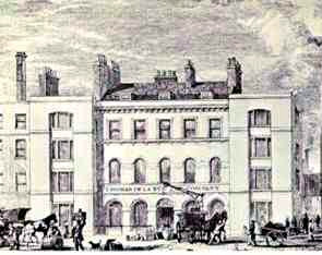 Bunhill Row early in the nineteenth century
