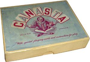 """De la Rue boxed """"Canasta"""" set, c.1950"""
