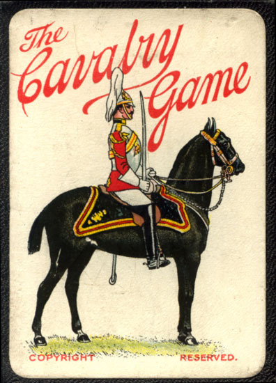 """Box from the """"Cavalry Game"""" manufactured by Thomas de la Rue & Co Ltd, c.1914"""