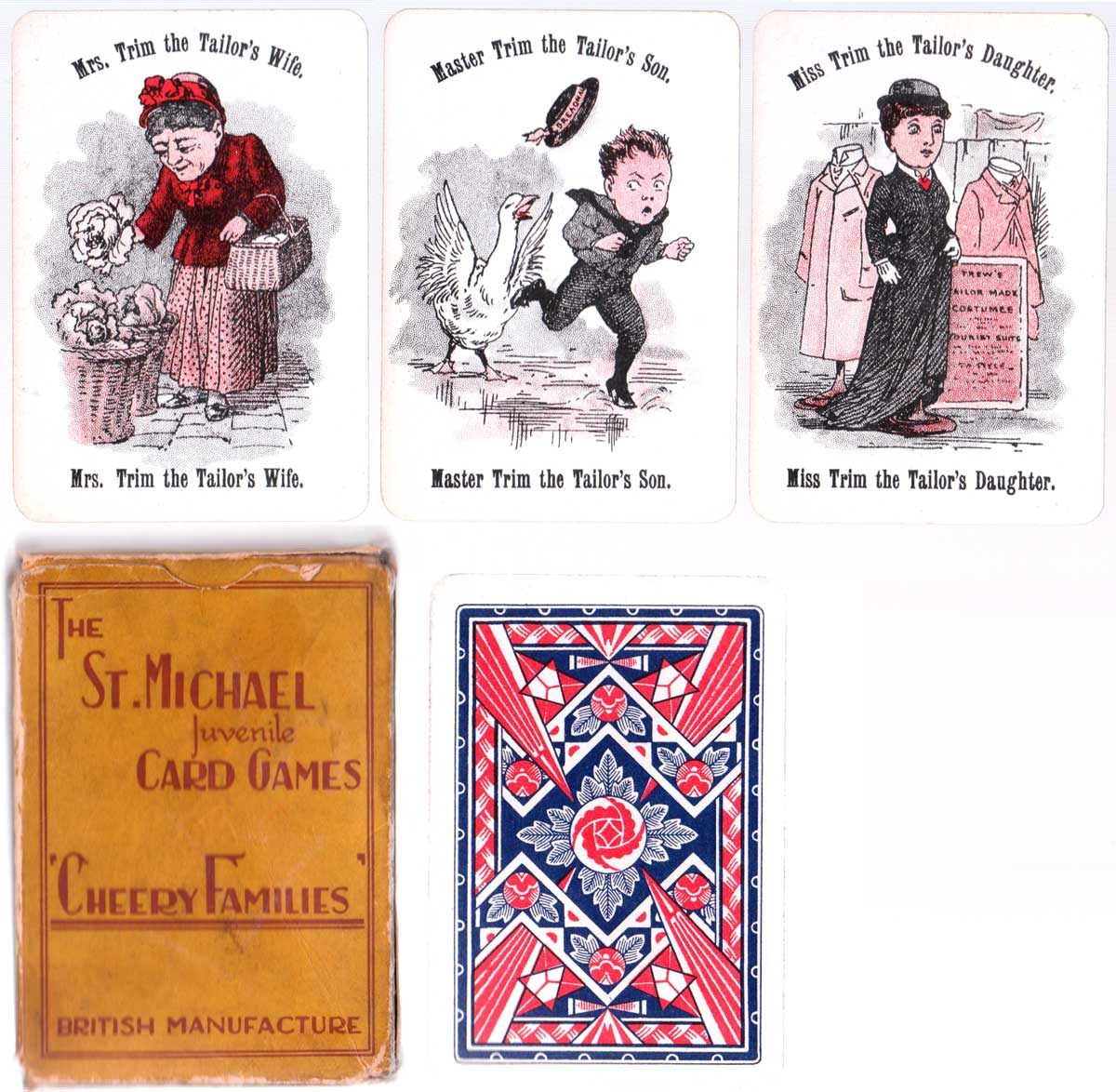 Cheery Families economy edition printed by De La Rue & Co., Ltd, c.1930s