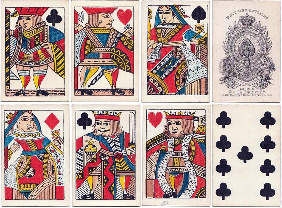 One of De la Rue's earliest pack of playing cards c.1832
