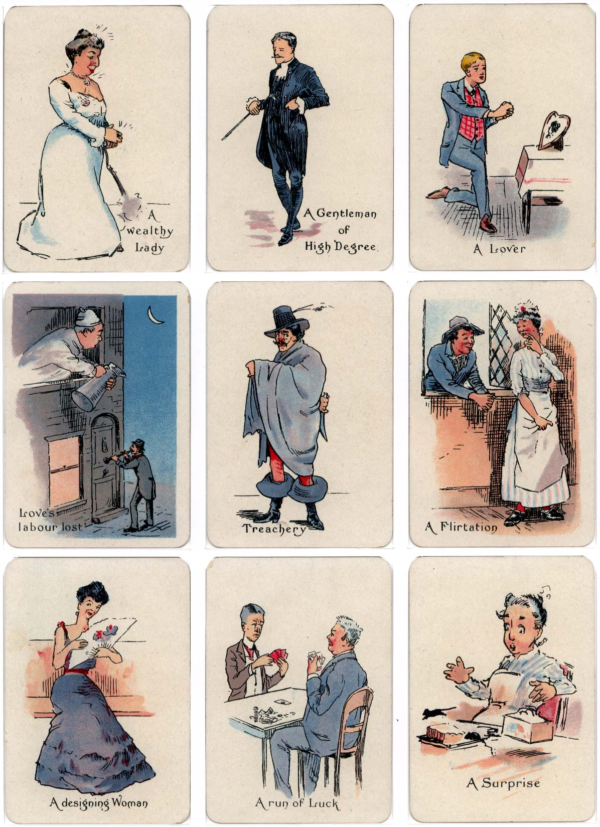 """The """"Gipsy"""" fortune-telling cards published by Thomas de la Rue & Co Ltd., c.1910"""